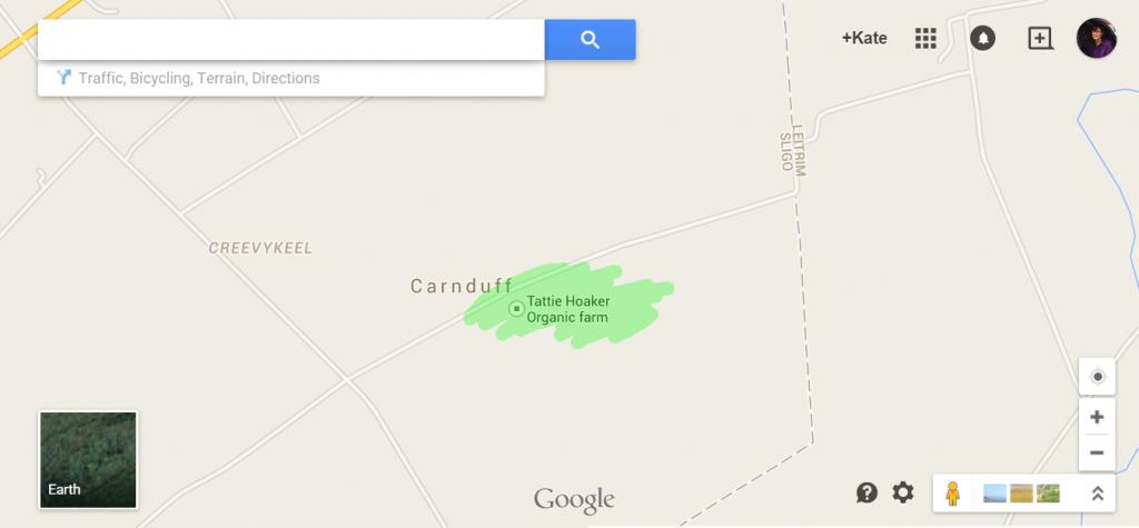 Tattie Hoaker Location map
